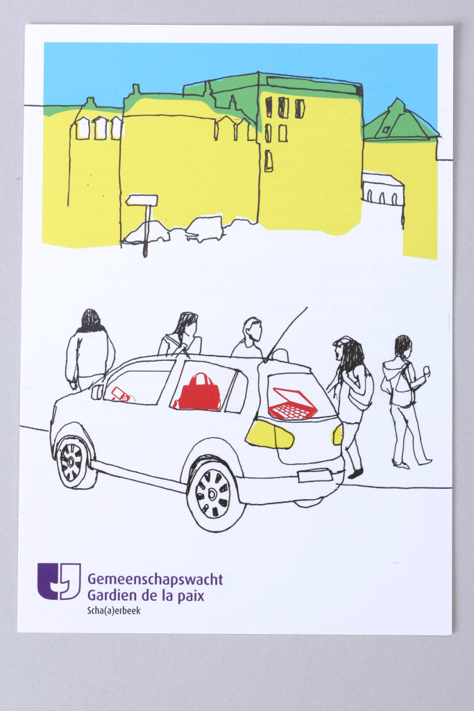 Schaerbeek service de prévention — Illustration : Cécile Deglain