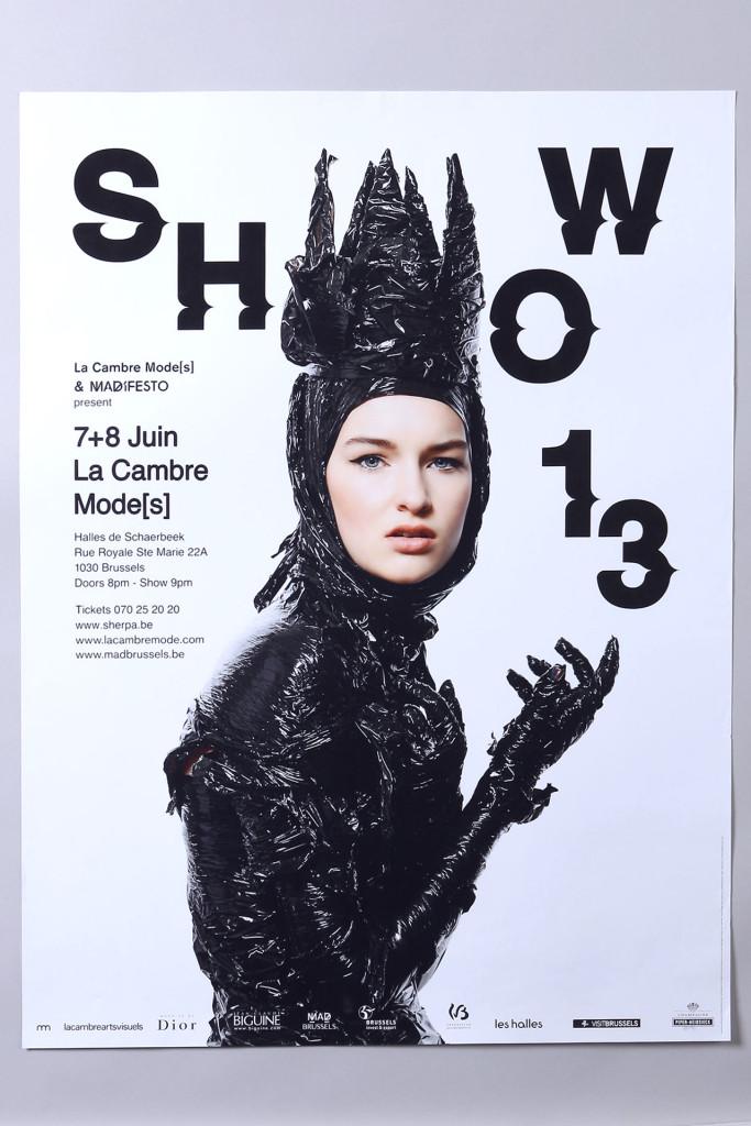 La Cambre SHOW13 — Typographie : Steve Jakobs — Photographie : Emmanuel Laurent