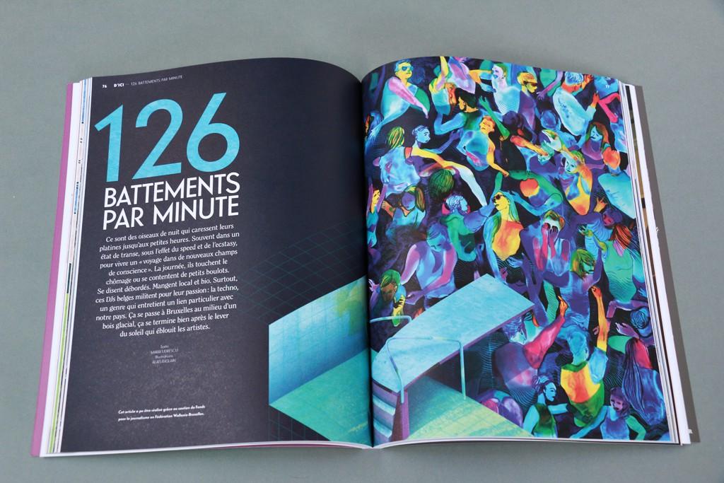24hO1 #7 -126 battements par minutes - Texte : Maria Udrescu - Illustration : Alaïs Raslain