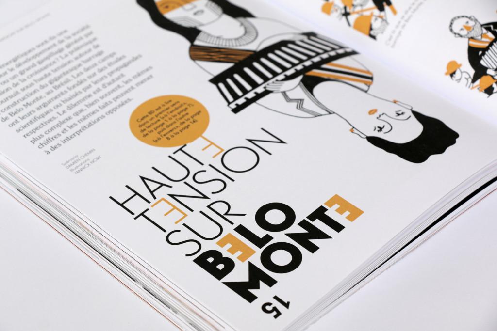 24h01 N°4 — Article : Haute tension sur Belo Monté — Scénario : Damien Chemin — Illustration : Yannick Nory