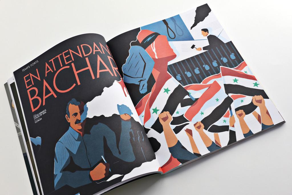 24H01 n°12 — En attendant Bachar — Texte : Cecile Debarge — illustration : Gonoh