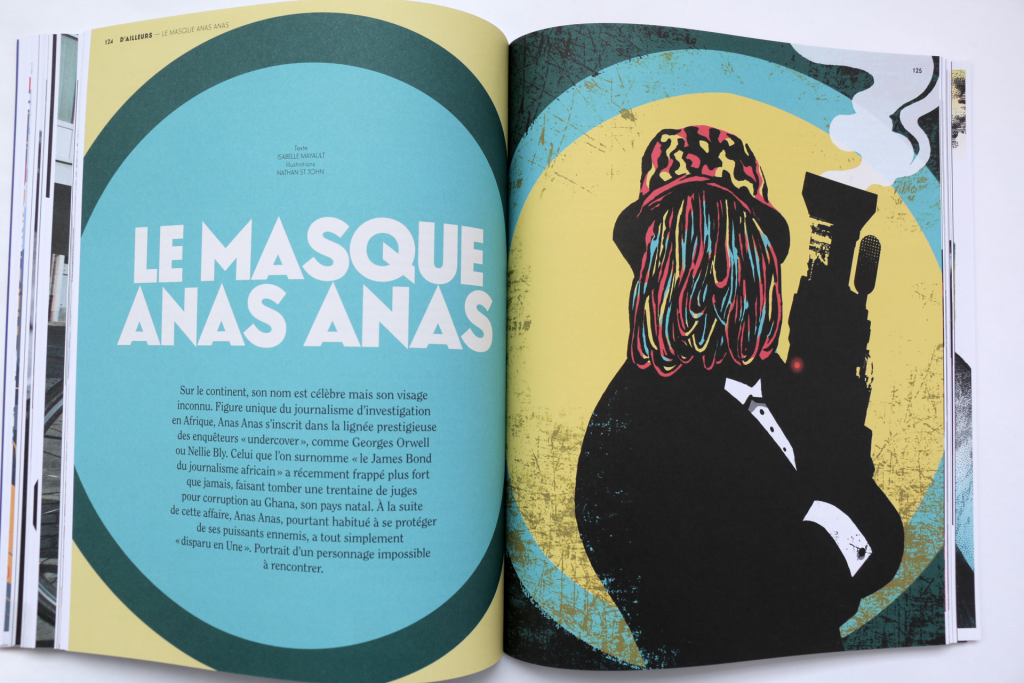 24h01 N°6 — Article : Le masque ANAS ANAS — Textes : Isabelle Mayault. Illustrations : Nathan St John