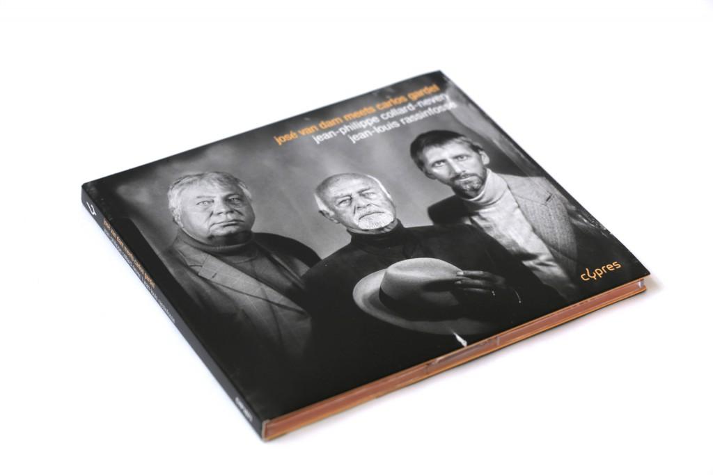Cypres — José Van dam meets Carlos Gardel — Musiciens : Jean-Philippe Collard-Neven, Jean Louis Rassinflosse — Photographie : Studio Baxton