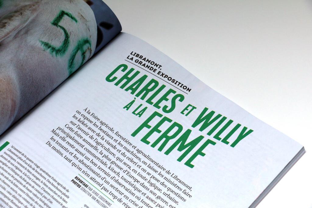 """Wilfried n°5 — """"Charles et Willy à la ferme"""" — Reportage par Serge Coosemans — Photos par Sébastien Van Malleghem"""