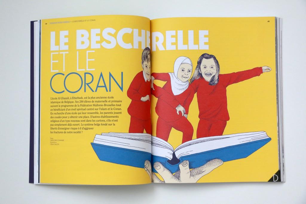 24h01 #8 - Le bescherelle et le coran - Illustration : Celia Calois - Texte : G. Comhaire
