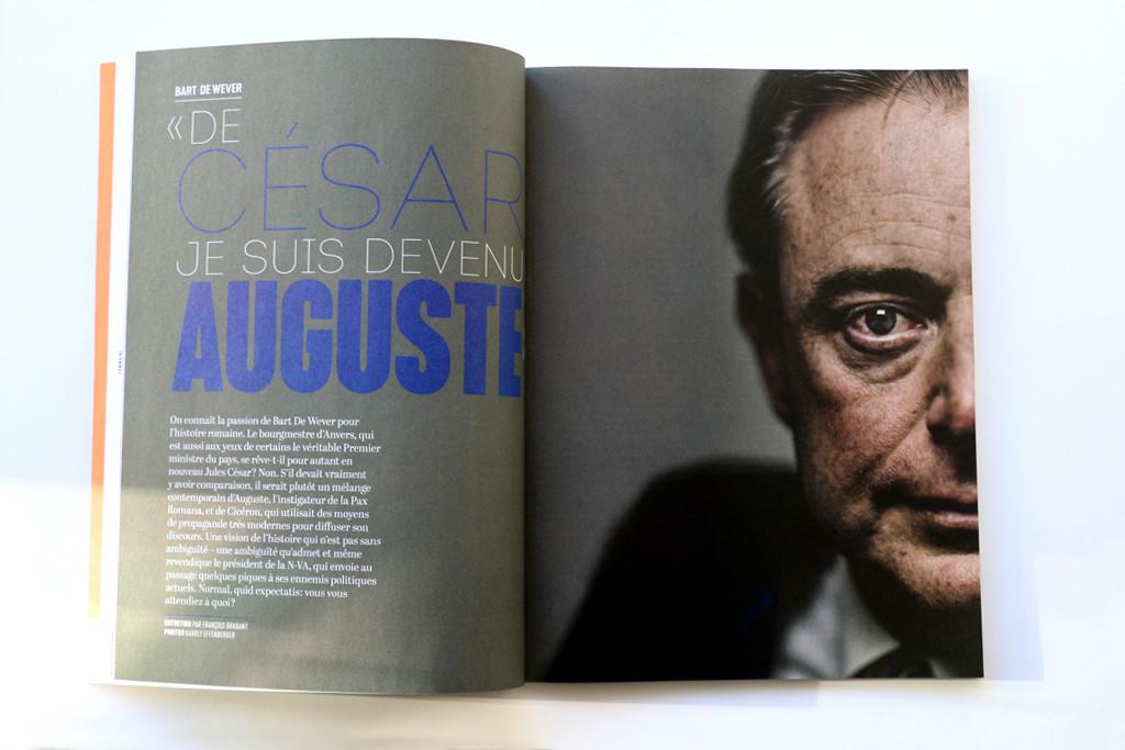 """Wilfried n°3 — Bart de Wever — """"De César, je suis devenu Auguste"""" — Texte : François Brabant — Photographie : Karoly Effenberger"""