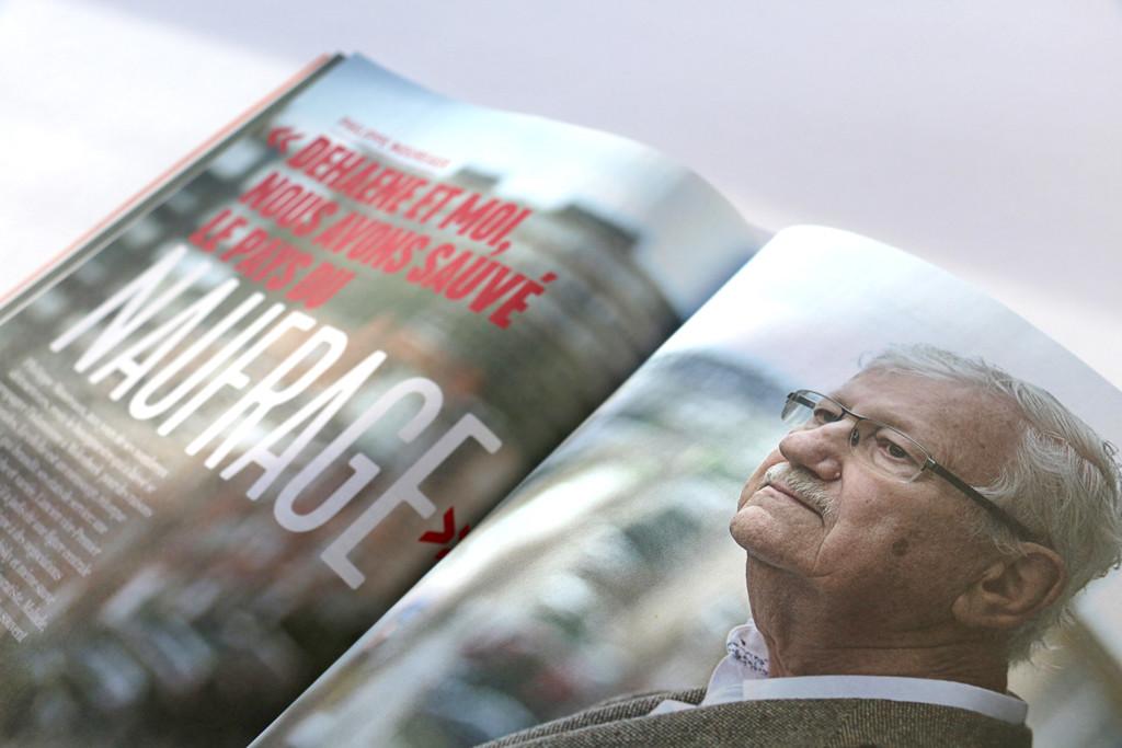 """Wilfried n°3 — Philippe Moureaux — """"Dehaene et moi, nous avons sauvé le pays du naufrage"""" — Texte : François Brabant, Alice Dive — Photographie : Eric Herchaft"""