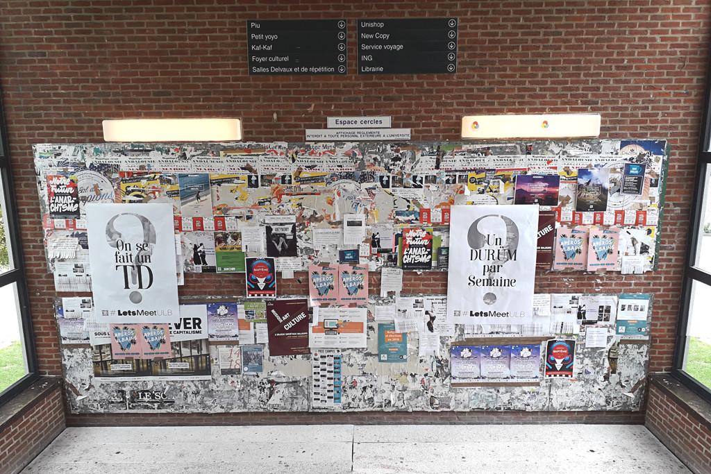 Campagne d'affichage Let's Meet — ULB